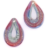 Lamp Bead Double Raindrop 2Pc 27x17mm Sunset